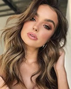 Brunette Balayage for Thick Hair - 50 Cute Long Layered Haircuts with Bangs 2019 - The Trending Hairstyle Layered Haircuts With Bangs, Easy Hairstyles For Medium Hair, Medium Long Hair, Haircuts For Long Hair, Modern Hairstyles, Long Hairstyles, Modern Haircuts, Wedding Hairstyles, Hot Hair Styles