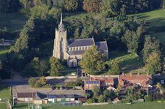 St Peter and St Paul church in East Harling - Norfolk aerial image | by John D F