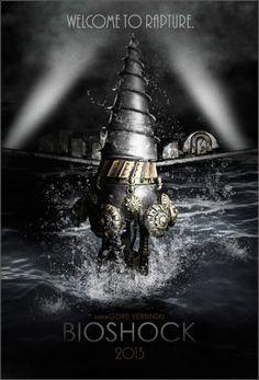 Excellent fan made Bioshock movie poster. Bioshock 2, Bioshock Infinite, Bioshock Rapture, Bioshock Series, Bioshock Artwork, Big Daddy, Video Game Art, Skyrim, Videogames