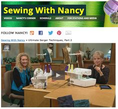 How to use your serger. Watch Sewing With Nancy online with Baby Lock guest Pam Mahshie. Ultimate Serger Techniques.