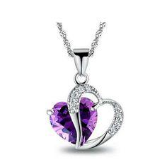 Austrian Crystal February Birthstone Necklace