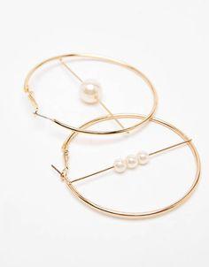 Boucles d'oreilles Bershka Handmade Wire Jewelry, Dainty Jewelry, Cute Jewelry, Modern Jewelry, Pearl Jewelry, Silver Jewelry, Silver Ring, Pearl Earrings, Bijou Geek