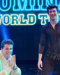Shawn Mendes with Charlie Puth ~ Illuminate World Tour Charlie Puth, Magcon, Shawn Mendes, Cute Celebrities, Celebs, Do You Know The Muffin Man, Mendes Army, The Power Of Music, Fandoms