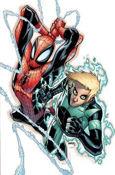Spider-Man & Alpha by Humberto Ramos