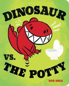 the Potty (Board Book) - Bob Shea Dinosaur vs. the Potty (Board Book) - Bob SheaDinosaur vs. the Potty (Board Book) - Bob Shea Dinosaur Books For Kids, Funny Books For Kids, Dinosaur Crafts, Toddler Books, Childrens Books, Toddler Storytime, Funny Kids, Potty Training Books, Best Potty