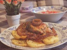 Design by Suzi: Kuracie prsia plnené syrom a sušenými rajčinami French Toast, Meat, Chicken, Breakfast, Food, Design, Meal, Eten