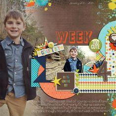 Digital Scrapbook Page by LaShawn | Genuine Boy by Bella Gypsy