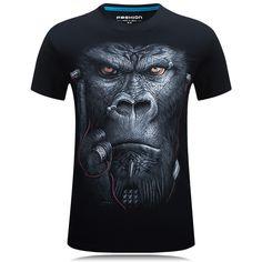 58641e282169d9 Fire Kirin 3D T Shirt Men Hip Hop T shirt 5XL 6XL Plus Size Mens Funny T  Shirts Luxury Brand Animals Print Tee Shirt Homme T387-in T-Shirts from  Men's ...