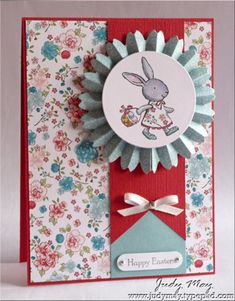 Stampin' Up! SU, Just Judy Designs. I like the lo and paper used. Also color combo. Would just change occasion.