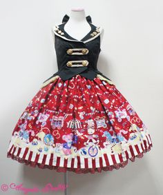 Fantasy Theater Gilet JSK in red - Angelic Pretty
