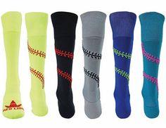 Playball Softball Socks Knee High Softball Socks Shop Awesome Sports Com