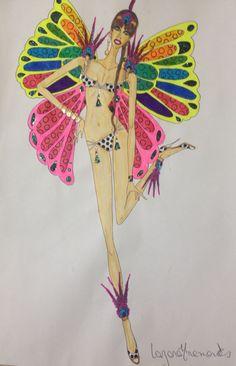 "Figurino:""Vitória Secrets Style""( lingerie)."