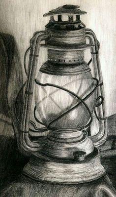 Lantern Drawing - Lantern by Karla Horst Still Life Sketch, Still Life Drawing, Still Life Pencil Shading, Painting Still Life, Pencil Art Drawings, Art Drawings Sketches, 3d Pencil Sketches, Pencil Sketching, 3d Pencil Art