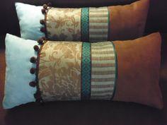 coussins turquoises et choco par 2 : Textiles et tapis par kotonou
