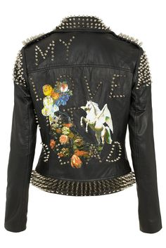My Love Aint Dead Leather Jacket TOPSHOP