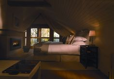 Sleeping - Limewood - New Forest Luxury Country House Hotel England, 5 Star Hotel Hampshire Master Bedroom Bathroom, Upstairs Bedroom, Wood Bedroom, Bedroom Decor, Bedroom Ideas, Bedroom Nook, Country House Hotels, Country Hotel, Attic Bedrooms