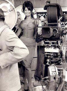 Sophia Loren, 1963 #SophiaLoren ... beginning now -  I will pin a number of candid shots of Sophia... Kiss me I'm Italian