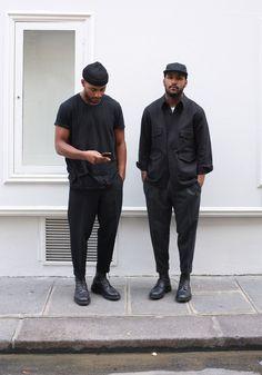 All Black Style beanie cap men tumblr streetstyle