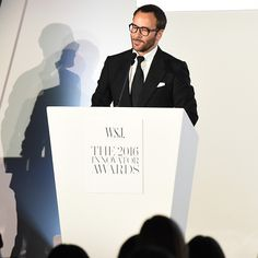 Tom Ford received the Film Innovator Award at the 2016 Wall Street Journal Innovator Awards. #TOMFORD