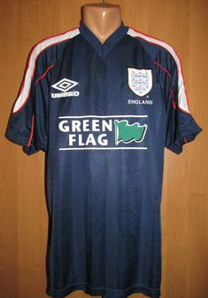 602b682b6 England 1998 training football shirt Green Flag by Umbro 90s vintage Euro  WorldCup France98 soccer jersey