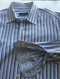 ab6a9da4a1b Bugatchi Uomo Men's Shirt size xxl Striped #BugatchiUomo #ButtonFront  Casual Shirts For Men,