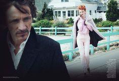 Karen Elson by Peter Lindbergh for <em>Vogue US</em> October 2011