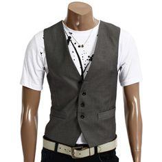Casual 4 button slim vest