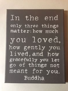 I've been thinking about this one a lot lately. :: Buddha Quote Hand Pointed Wall Art by livingstonandporter on Etsy by My awesome Life