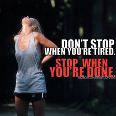 The voice in your head that says you can't do it is a liar!