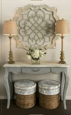 Entry inspiration - look available at Hobby Lobby by imelda