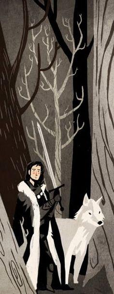 Jon Snow with Ghost