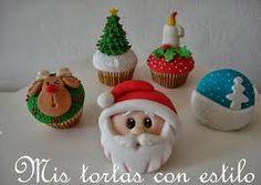 Resultado de imagen para tortas y cupcakes navideños