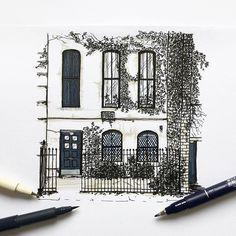 New York #5  #white #black #ink #pen #drawing #draw #art #artist #illustration #illustrator #newyork #nyc #wwpiercenewyorkseries