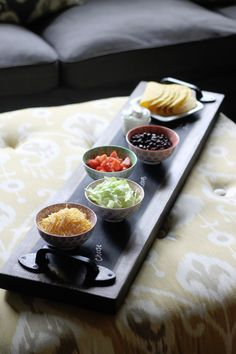 DIY chalkboard serving tray