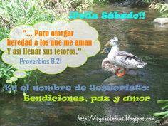 Compartamos la Palabra de Dios: ¡Feliz Sábado!!