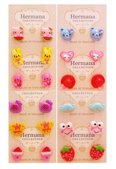 12 Pairs Lot Of Cute Kids Plastic Soft Post Stud Earrings For S Children A1