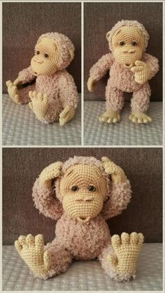 amigurumi crochet baby monkey by ingrid
