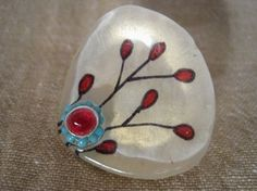Orna Lalo designed artistic resin ring hand-made by artisans in Sofia Bulgaria