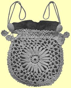 The Princess Louise crocheted bag design which follows is yet another popular design beloved by Victorian ladies