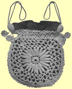 Purse Pouch Bag Crochet Pattern Knit Pinterest Bags And Purses