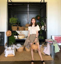 Korean Fashion Trends you can Steal – Designer Fashion Tips Korean Fashion Summer, Korean Fashion Trends, Korea Fashion, Asian Fashion, Cute Casual Outfits, Simple Outfits, Casual Dresses For Women, Kpop Fashion Outfits, Korean Outfits