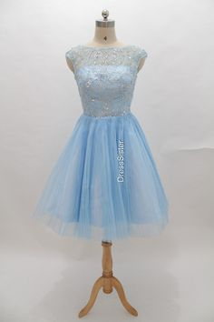 Blue Homecoming Dress/ Short Party Dress/ prom by DressSister, $169.00