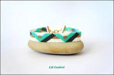 Découvrez Bracelet manchette tissé perles japonaises miyuki  sur alittleMarket