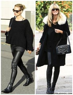 029c25d9623f All Black Chic Stylish Mom Outfits