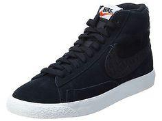 Nike Blazer Mid Premium Vintage Mens 638261-014 Black Sail Shoes Sneakers Sz 12