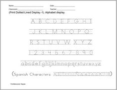 ABC Print Dotted Lined Font, especially designed for teachers, you can easily create hundreds of handwriting, spelling & penmanship lessons for your students.  Type on Microsoft Word, or any other application and enjoy this font ability to trace lines or dots, or a combination of both.  (Includes foreign punctuation marks-Spanish. Mac and Windows compatible. All Operating Systems)