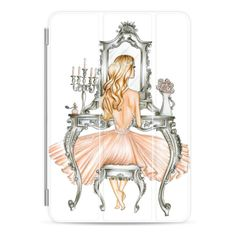 Vanity Chair - iPad Cover / Case ($50) ❤ liked on Polyvore featuring accessories, tech accessories, ipad cover / case, ipad cover case, apple ipad case, apple ipad cover case, ipad cases and ipad sleeve case