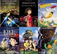 All of Hayao Miyazaki movies <3