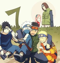 Team 7 ( troop leader Obito ) Naruto