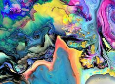 ImageFind images and videos about art, colors and color on We Heart It - the app to get lost in what you love. Art Et Illustration, Psychedelic Art, Oeuvre D'art, Modern Art, Abstract Art, Collage, Watercolor, Drawings, Artwork